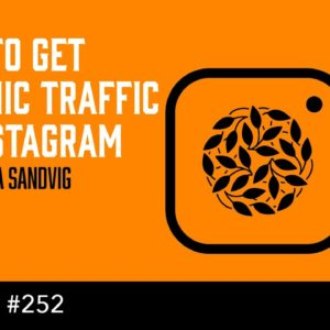 How to Get Organic Traffic on Instagram - with Hanna Sandvig (The Self Publishing Show, episode 252)