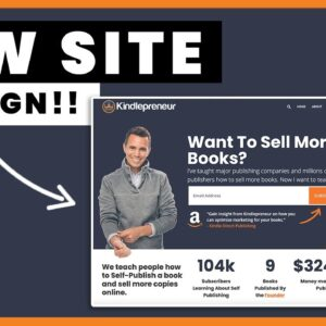 Kindlepreneur New Website Design!