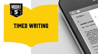 How to Boost Your Word Count (13/18): Timed Writing