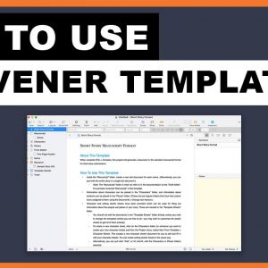 How To Scrivener: Upload your Own Scrivener Templates [on a Mac & PC]